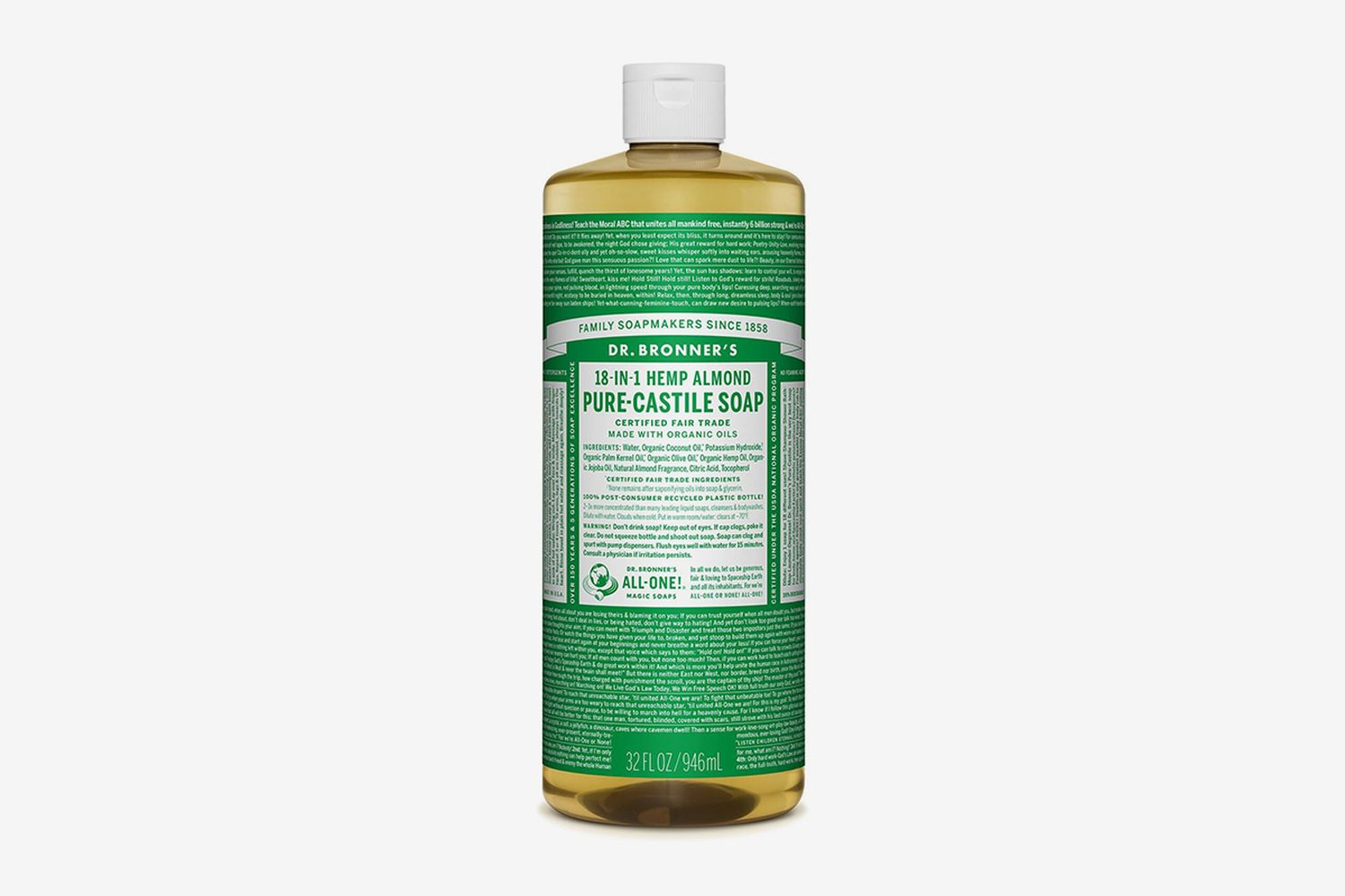 Hemp Almond Pure-Castile Liquid Soap