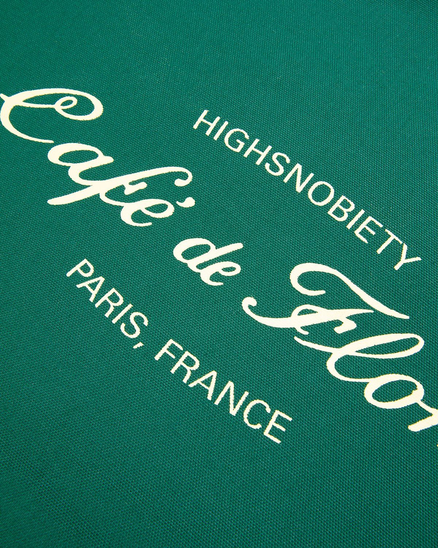 Highsnobiety — Not In Paris 3 x Café De Flore Tote Bag Green - Image 4