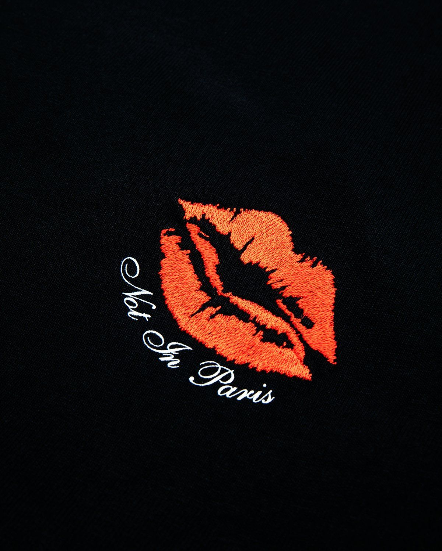 Highsnobiety — Not In Paris 3 Kiss T-Shirt Black - Image 3