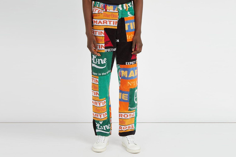 Beer Mat-Print Trousers