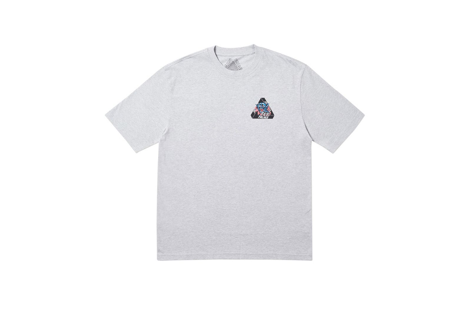 Palace 2019 Autumn T Shirt Ripped grey marl front