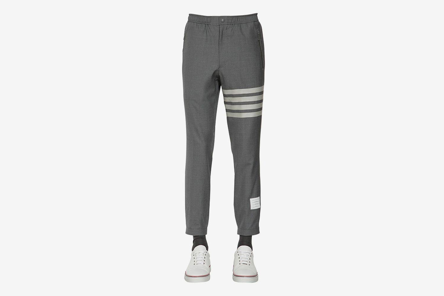 Wool Track Pants With Stripes