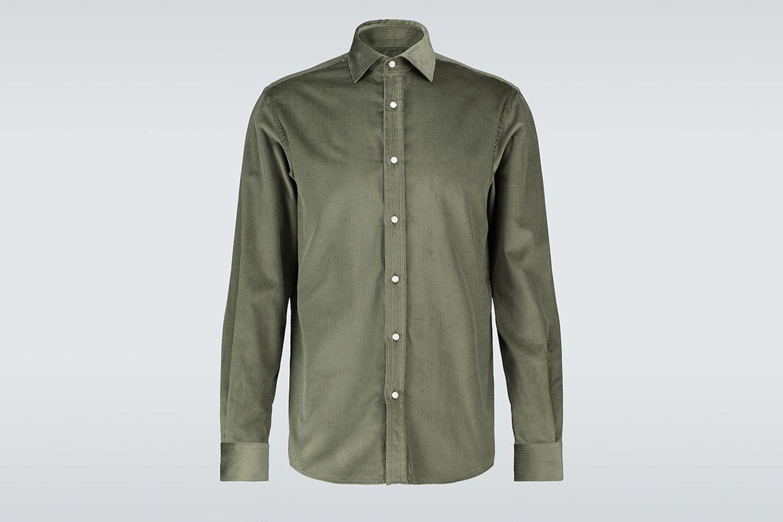 Long-Sleeved Corduroy Shirt