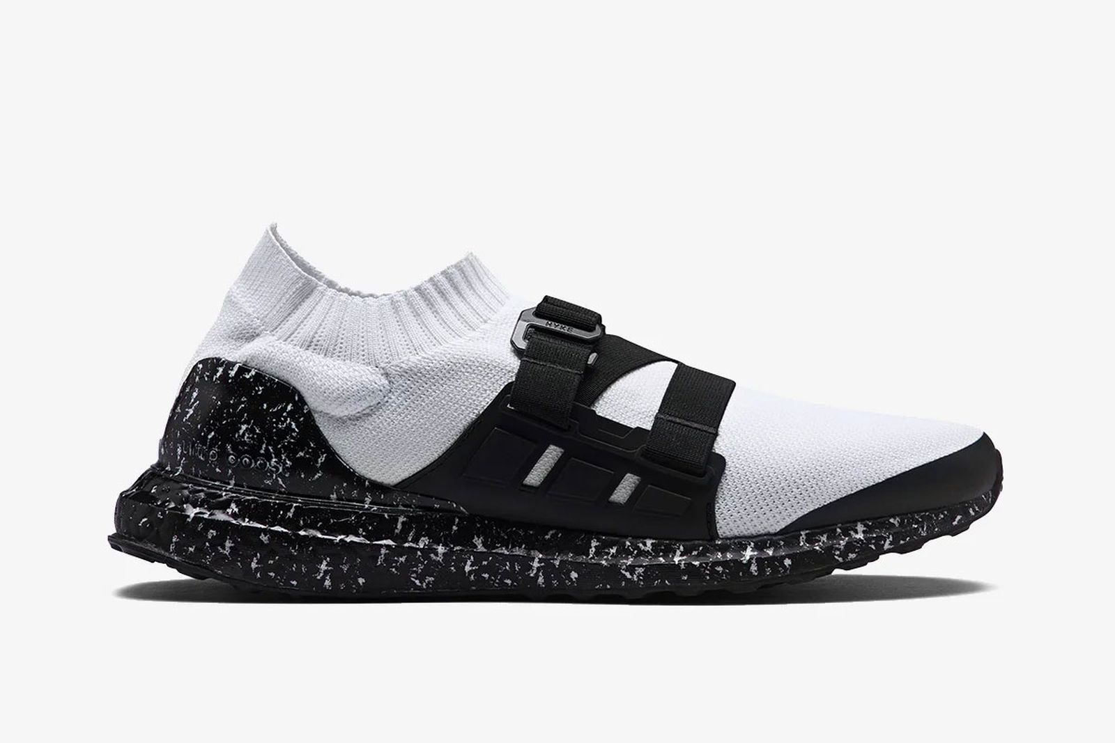 white and black Hyke x adidas Ultraboost aH001