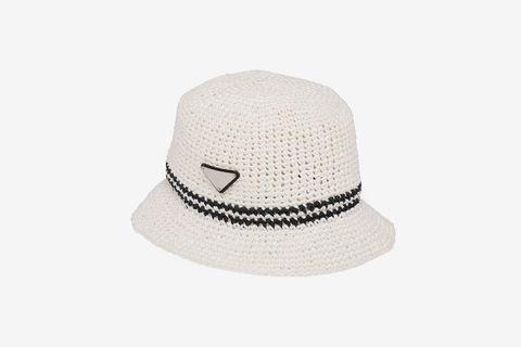 Crocheted Logo-Plaque Hat