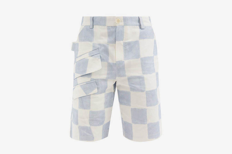 Colza Check Shorts