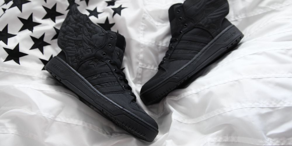 2758993aebcb A Closer Look at the adidas Originals x Jeremy Scott x A$AP Rocky JS Wings  2.0 BLACK FLAG | Highsnobiety