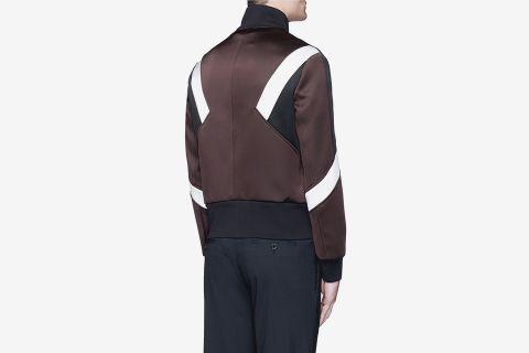 Colorblock Blouson Satin Jacket