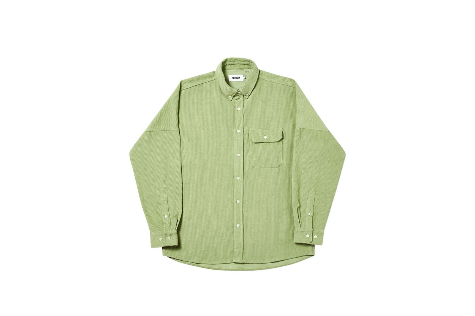 Palace 2019 Autumn Shirt Drop Cord green front fw19