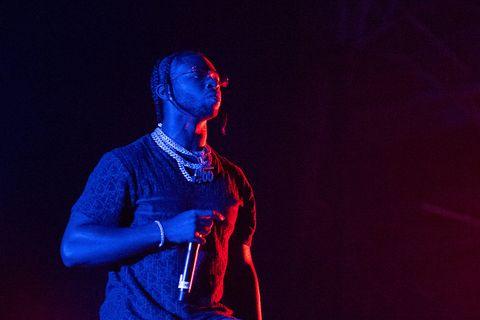 Pop Smoke performs at Olympia London on November 29, 2019