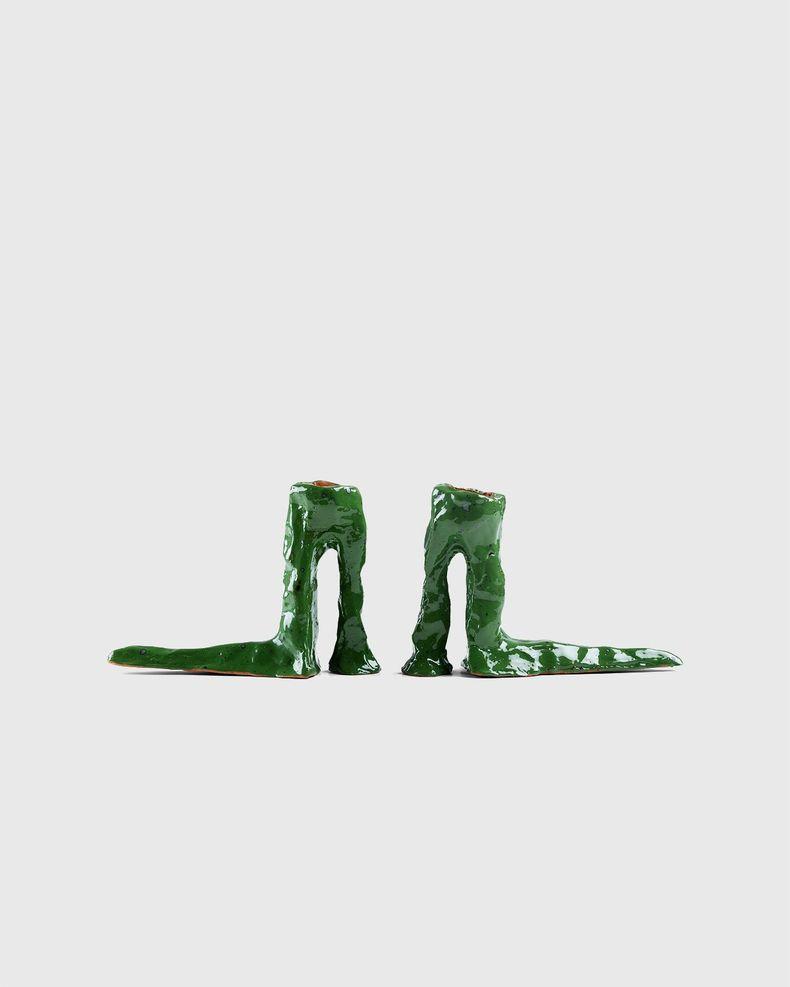 Laura Welker – Candle Holder Dark Green
