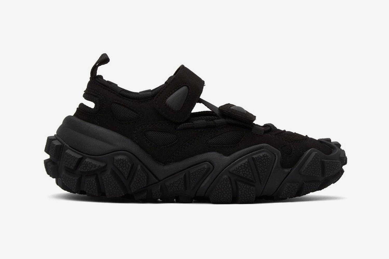 Black Suede & Mesh Sneakers