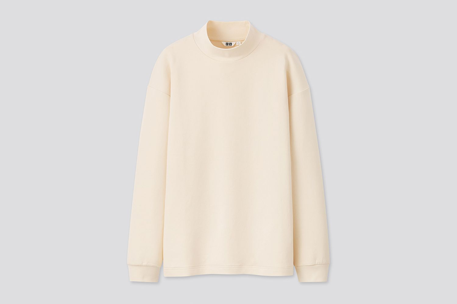 Mock Neck Long-Sleeve Pullover