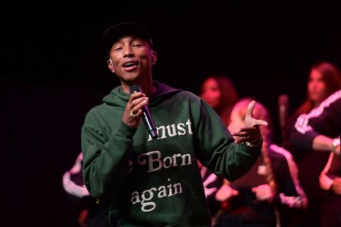 Pharrell Williams performs onstage during Soundcheck: A Netflix Film and Series Music Showcase