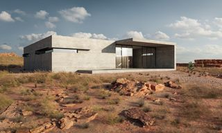 This Beautiful Minimalist Desert House Is Powered Only by Solar Energy