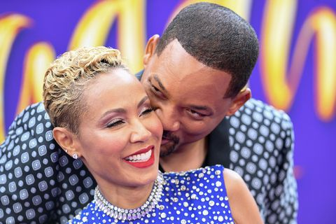 Will Smith and his wife actress Jada Pinkett Smith attend the World Premiere of Disneys Aladdin