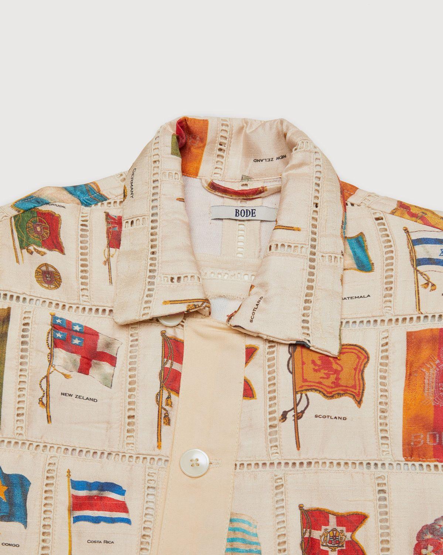 BODE — Tobacco Flag Patchwork Shirt Natural - Image 4