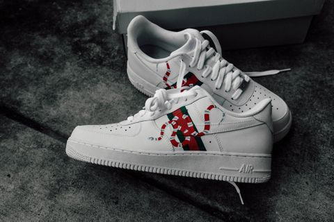 buy popular cf57d 438fd Amac Customs,Nike Gucci Snakes AF1 Low