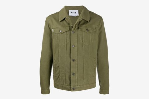 Reflective Patch Denim Jacket