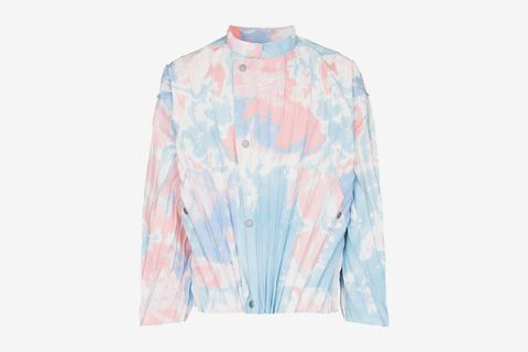Tie-Dye Pleated Jacket