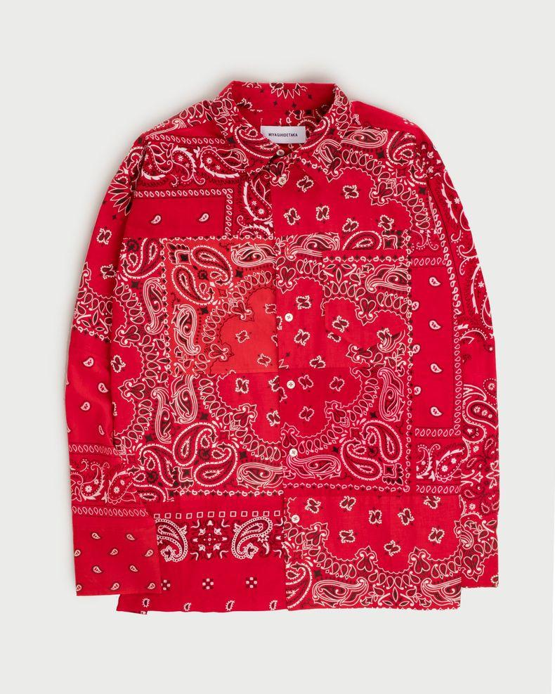 Miyagihidetaka — Bandana Shirt Red