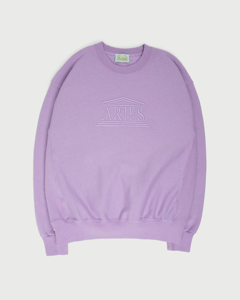 Aries — Embroidered Temple Sweatshirt Unisex Orchid
