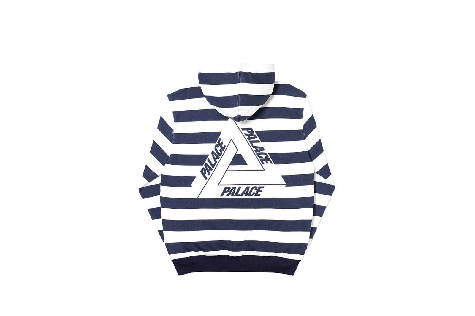 Palace 2019 Autumn Hood Tri Stripe Zip White Back