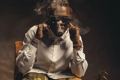 gunna smoking a cigar