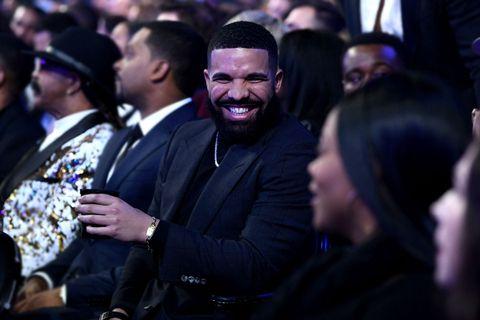 drake laughing at 61st Annual Grammy Awards