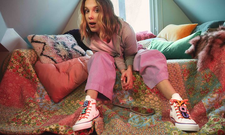 Millie Bobby Brown Converse sneakers