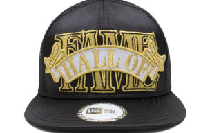 Hall of Fame Black Satin Ribbon Snapback Cap