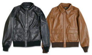 UCS x Alpha Industries A-2 Woven Leather Jacket