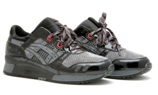 David Z. x Asics Gel Lyte III | Black Patent/Grey Suede