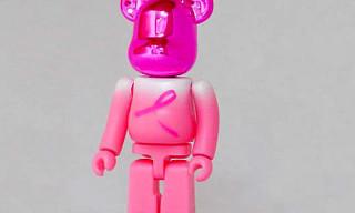 "Bearbrick ""Breast Cancer Awareness"""