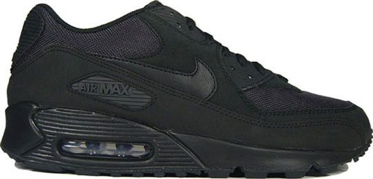 black on black air max 90