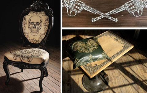 Mama Tried Tattooed Furniture