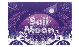 "Kai and Sunny ""Sail on the Moon"" Limited Print"