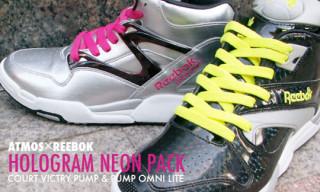 "Atmos x Reebok ""Hologram Neon"" Pack"