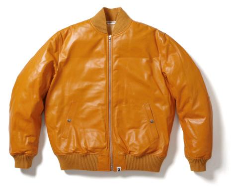 Bape leather jacket