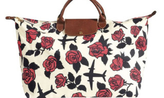 "Longchamp x Jeremy Scott ""Rose"" Pliage Bag"