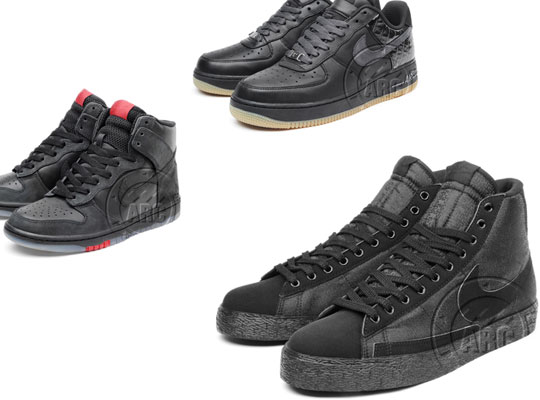 super popular aa948 cb039 More Black Nikes Blazer Hi Dunk Hi Air Force 1 Highsnobiety on sale