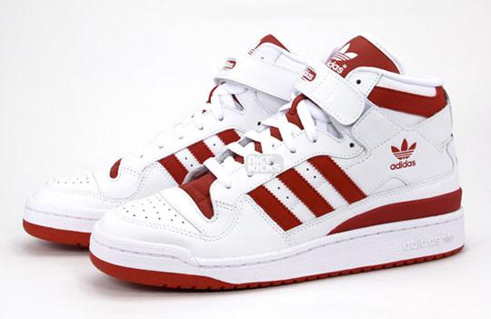 adidas forum mid red