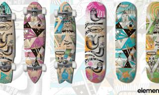 "Element x Steven Harrington ""Our Mountain"" Skateboard Decks"