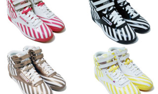 "Reebok Freestyle Hi ""Stripes"" Collection"