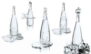 Evian x Jean-Paul Gaultier x Baccarat Limited Edition Bottles