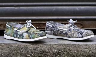 YMC Snakeskin Deck Shoes