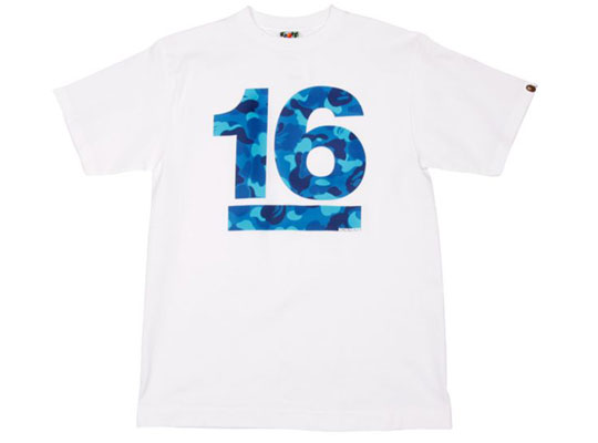 bape 16th anniversary t shirt colette exclusive highsnobiety. Black Bedroom Furniture Sets. Home Design Ideas