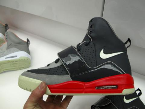 Nike Air Yeezy | Black/Grey/Fire Red Colorway