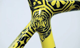 Lance Armstrong's Shepard Fairey And Kenny Scharf Art Bikes