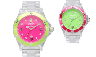 Bape Summer 2009 Bapex Clear Pink/Green